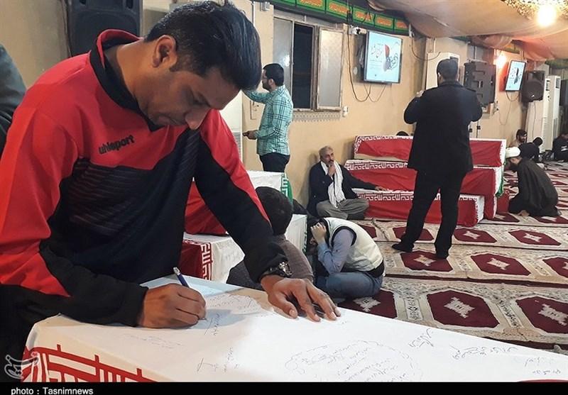 انتقال پیکر پاک شهید امرالله احمدی به اهواز + عکس