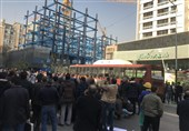 تجمع مرغداران گوشتی مقابل ساختمان وزارت جهاد کشاورزی