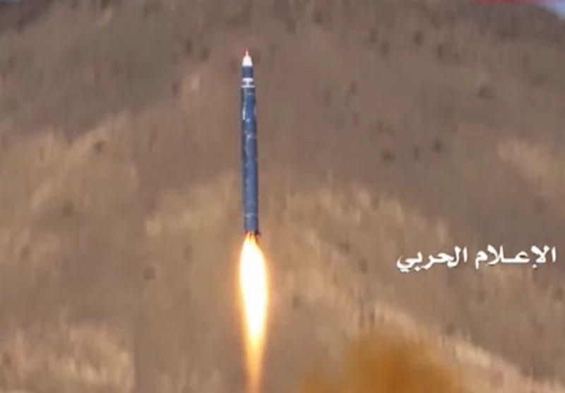 صاروخ بالیستی یمنی یستهدف وزارة الدفاع السعودیة فی الریاض