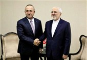 ظریف با همتای ترکیهای خود در تهران دیدار کرد