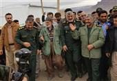تحویل تعدادی واحد مسکونی نوساز به زلزلهزدگان کرمانشاه توسط فرمانده سپاه