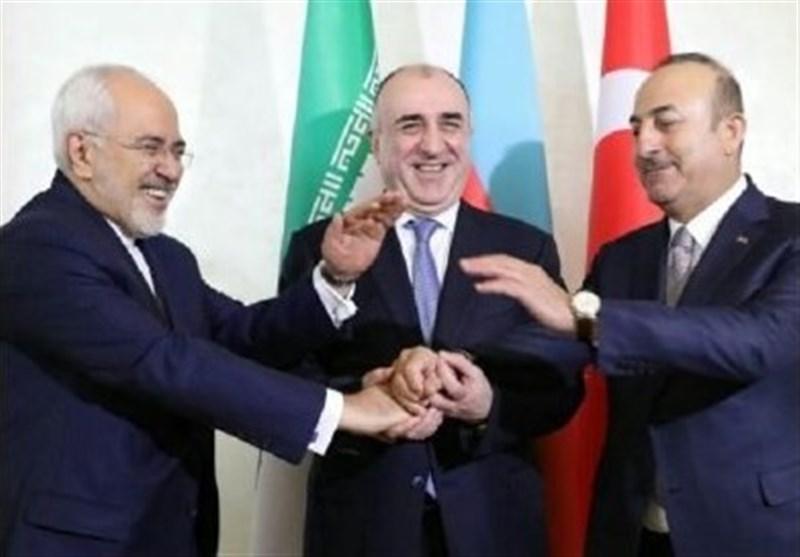 باکو میں ایران، ترکی اور آذربائیجان کے سہ فریقی اجلاس کا آغاز