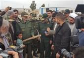 زلزله کرمانشاه| وزیر دفاع کلنگ آغاز ساخت 50 واحد مسکونی را به زمین زد