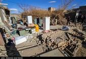 خسارات زلزله شهرستان کوهبنان در استان کرمان