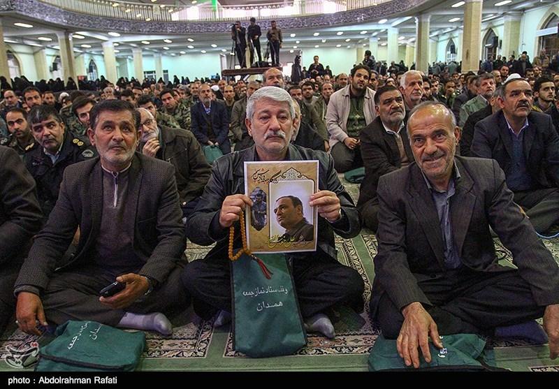 """مراسم گرامیداشت جانباز """"شهید علی خوش لفظ """"در همدان برگزار شد"""