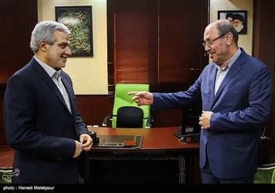دیدار سردار حسین دهقان با مجید قلیزاده مدیرعامل خبرگزاری تسنیم