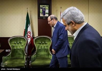 استقبال مجید قلیزاده مدیرعامل خبرگزاری تسنیم از سردار حسین دهقان