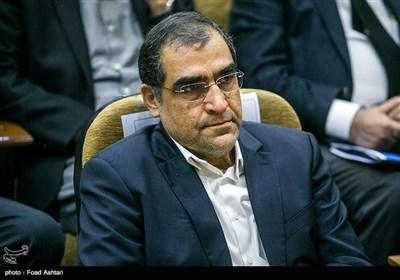 حضور دکتر قاضیزاده هاشمی وزیر بهداشت در مراسم تشییع پیکر پروفسور علیرضا یلدا