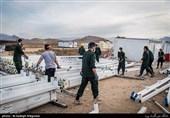 زلزله کرمانشاه|کارگاه سپاه و ساخت کانکس برای زلزلهزدگان + عکس