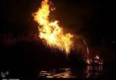 170هکتار از نیزارهای دریاچه زریبار مریوان در آتش سهلانگاری سوخت