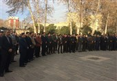 برگزاری مراسم تشییع دیپلمات شهید کشورمان در وزارت خارجه