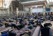حضور دوباره مردم تهران در حرم امام پس از زلزله + تصاویر