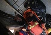 سقوط بالابر و مصدومیت 2 نفر در خیابان خیام + تصاویر