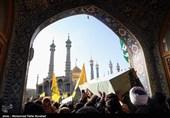 پیکر حجت الاسلام سید رحمت الله موسوی شهید مدافع حرم در قم تشییع شد