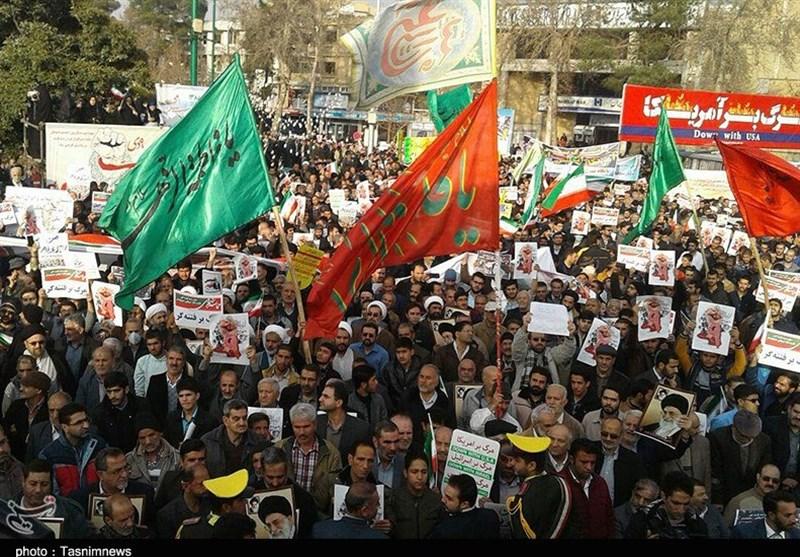 راهپیمایی باشکوه مردم اصفهان در سالروز حماسه 9 دی آغاز شد