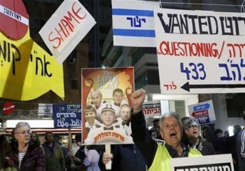 تلآویو صحنه تظاهرات علیه شکست نتانیاهو در برابر مقاومت+فیلم