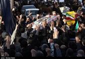 تشییع شهید شاهسنایی و راهپیمایی مردم نجف آباد در محکومیت اغتشاشات اخیر