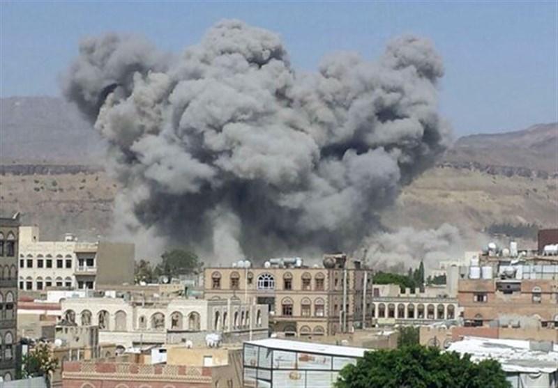 یمنی دارالحکومت صنعا پر سعودی اتحادی افواج کے فضائی حملے