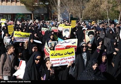 راهپیمایی در محکومیت اغتشاشات اخیر - کرمان