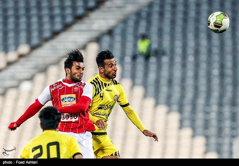 لیگ برتر فوتبال|تساوی پرسپولیس و نفت مسجدسلیمان در 45 دقیقه اول