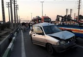 تصادف 7 خودرو در بزرگراه فتح + تصاویر