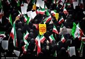 مردم انقلابی استان سمنان در محکومیت اغتشاشات اخیر راهپیمایی میکنند