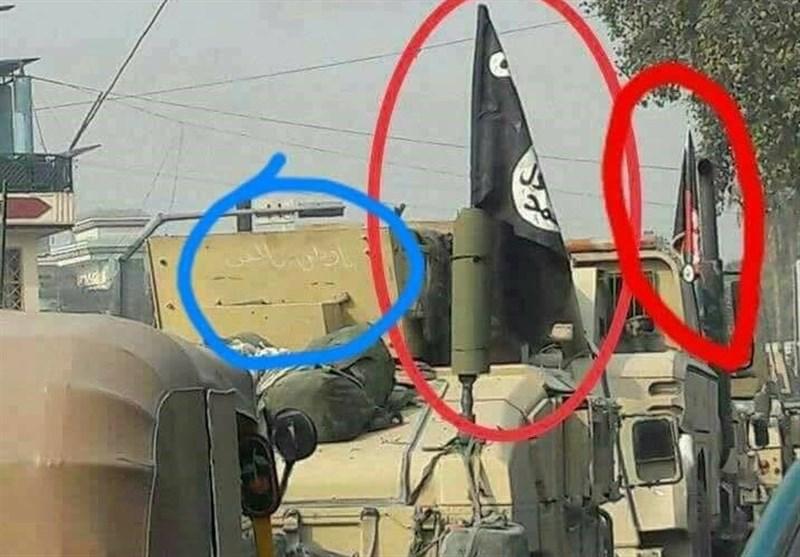 افغان فوج کی بکتربند گاڑیوں پر داعش کے جھنڈے, عوام سخت پریشان