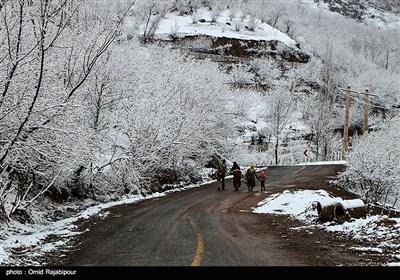 بارش برف در منطقه اشکورات رحیم آباد- گیلان
