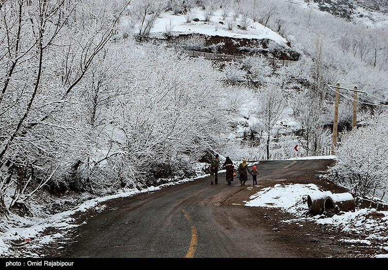 مهگرفتگی، برف و باران در استانهای غربی، شمالی و شمال شرقی