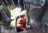 حبس کارگر جوان زیر خروارها خاک در تهرانپارس + تصاویر