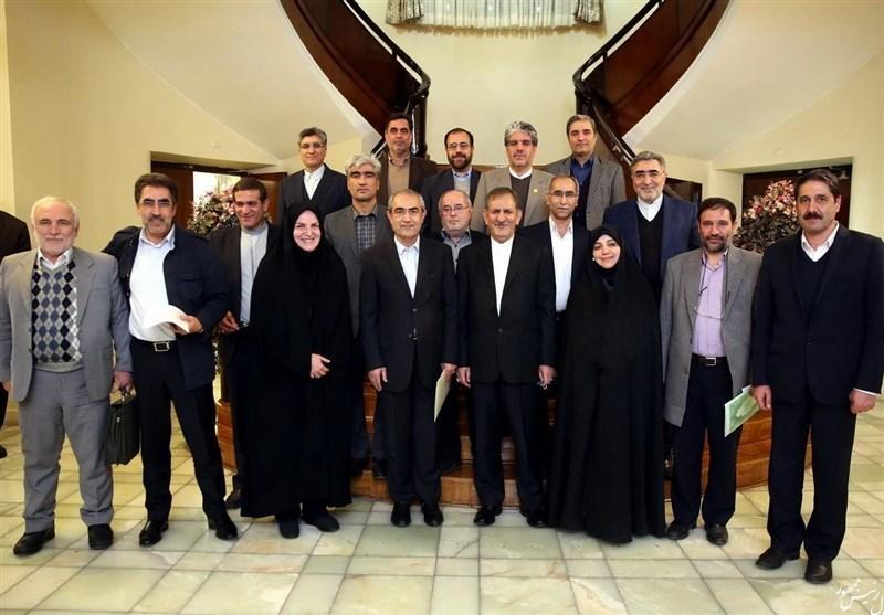 دیدار نمایندگان آذربایجان شرقی با اسحاق جهانگیری
