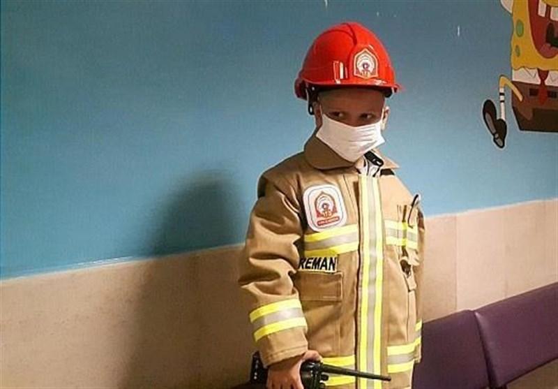 گروه پرستاران آرزوی کودک بیمار توسط پدر شهید پلاسکو برآورده شد + تصاویر ...