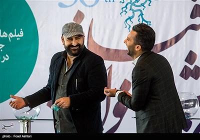 مهران احمدی در مراسم قرعهکشی سیوششمین دوره جشنواره فیلم فجر