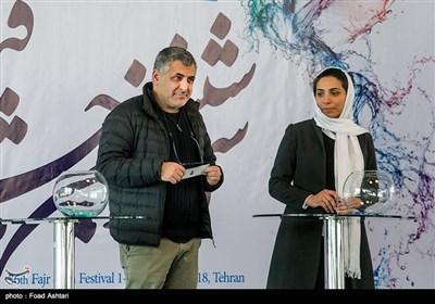مانی حقیقی در مراسم قرعهکشی سیوششمین دوره جشنواره فیلم فجر