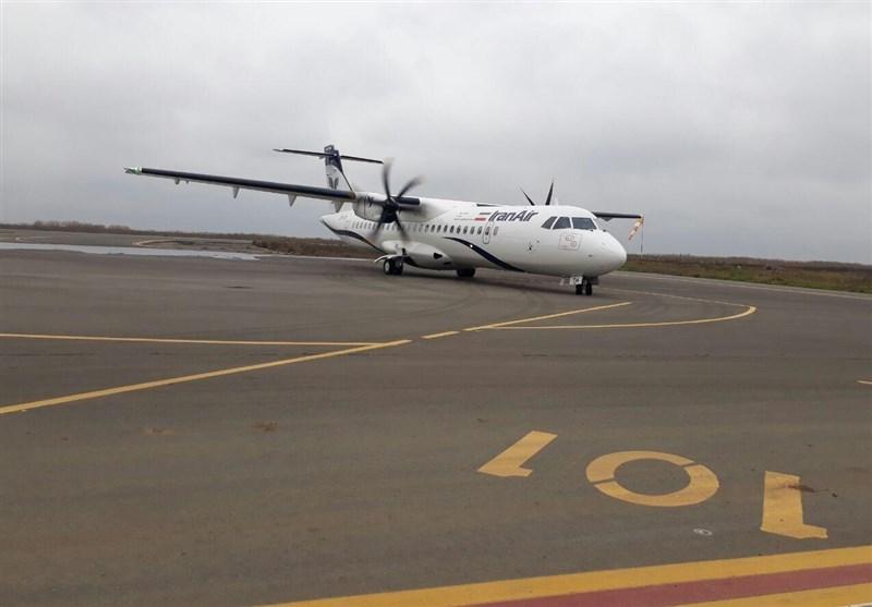 نخستین پرواز مسافربری فرودگاه پارسآباد انجام شد