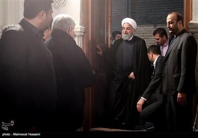 حجت الاسلام حسن روحانی رئیس جمهور در اولین سالگرد درگذشت آیتالله هاشمی رفسنجانی