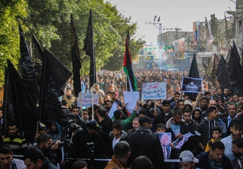 تظاهرات فلسطینیان