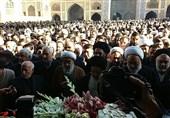 رئیس حوزه علمیه اصفهان بر پیکر حجتالاسلام مظاهری نماز اقامه کرد