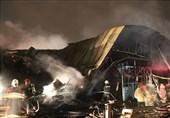 آتشسوزی گسترده در کارگاه 2 هزار متری تولید مبل + تصاویر