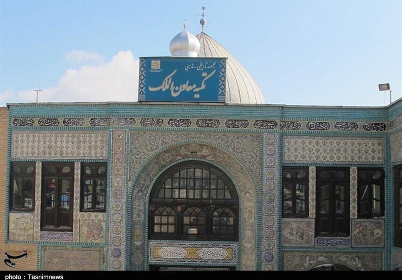 """آب در موزه کاشیکاری کرمانشاه؛ """"نم"""" همچنان تکیه معاونالملک را تهدید میکند + عکس"""