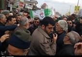 """پیکر مطهر جانباز شهید """"سید مرتضی حسینی"""" در علیآبادکتول تشییع شد + تصاویر"""