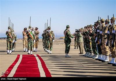 استقبال از پیکر شهید الماس بیرامی در فرودگاه اردبیل