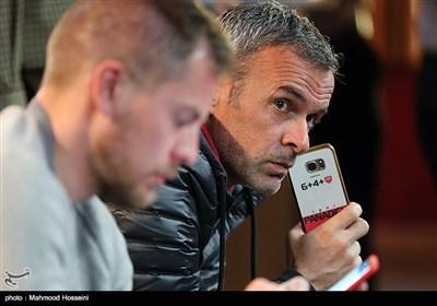 ایگور پانادیچ  مربی دروازهبانان و مارکو استیلینوویچ مربی بدنساز تیم فوتبال پرسپولیس