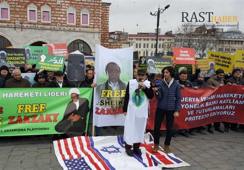 İstanbul'da Şeyh Zakzaki İçin Özgürlük Mitingi Düzenlendi