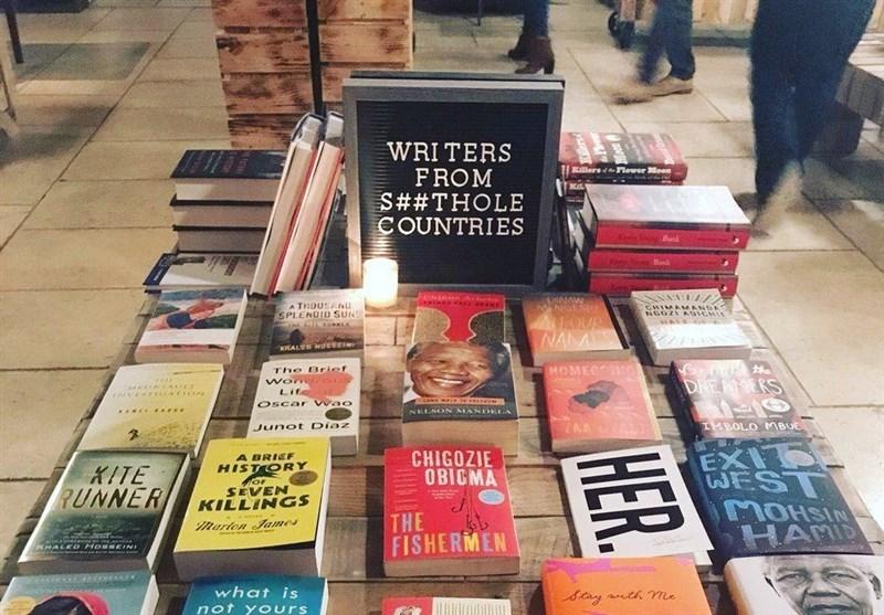 واکنش جالب یک کتابفروشی در نیویورک به توهین ترامپ علیه مهاجران آفریقایی