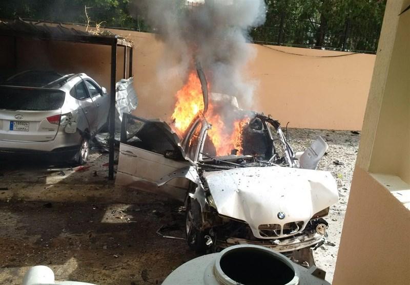 انفجار یک خودرو در شهر صیدا در لبنان+عکس