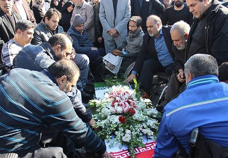 پیکر دو جانباز شهید در گلزار شهدای تهران آرام گرفت+عکس