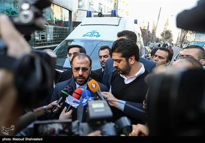 حضورحسینعلی امیری نماینده رییس جمهور در بین خانواده های جانباختگان کشتی سانچی