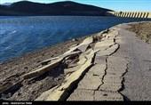 کاهش سطح آب سد اکباتان - همدان