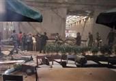 فرو ریختن سقف بازار بورس اندونزی دهها مصدوم برجای گذاشت+فیلم و عکس